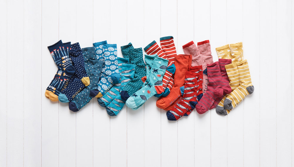 Made from soft and breathable natural fabrics such as bamboo or cotton, Seasalt socks are fun, colourful and comfy. Available in all kinds of patterns, from stripes to nautical designs or florals inspired by Cornish hedgerows and meadows, there is something for everyone. Hospital Rooms will receive 20p from every pair sold, helping us to deliver more projects at mental health units across the country.