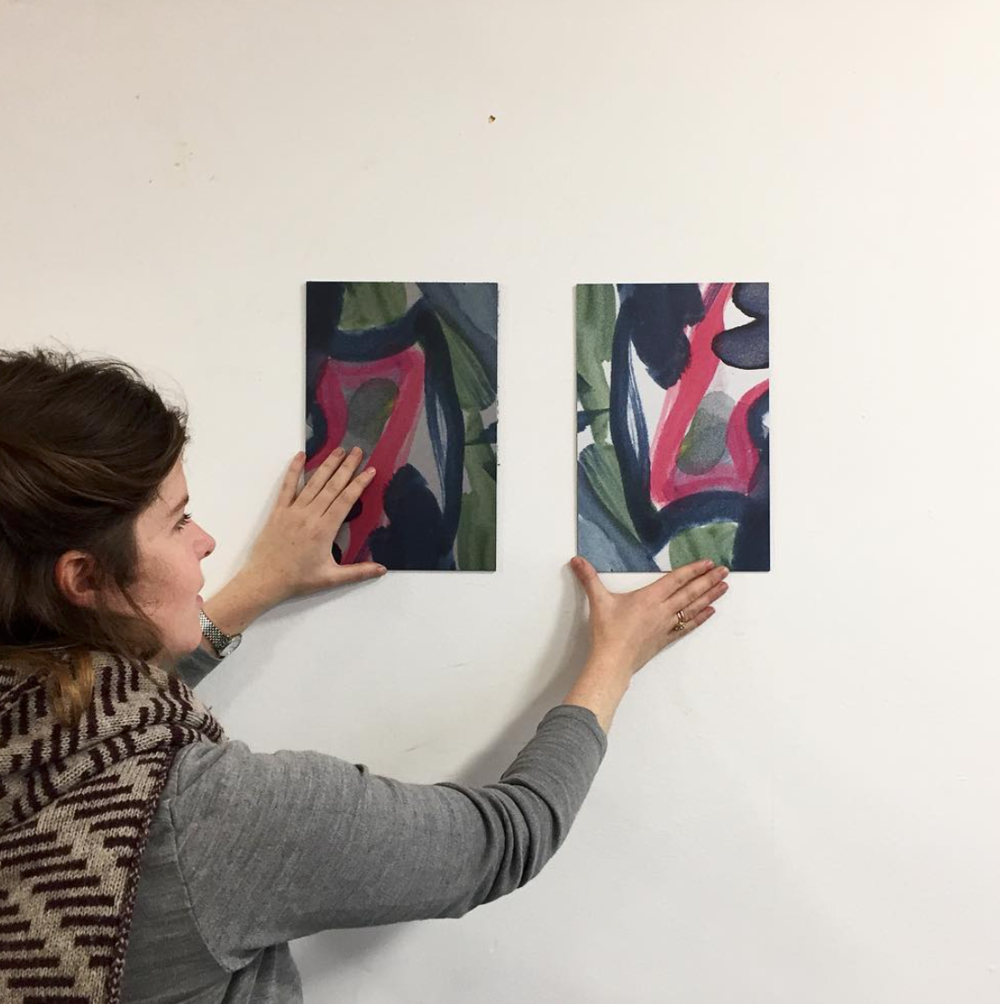 Comparing different dibond test prints at Eileen Skellern 1. Dibond is an aluminium composite which is lightweight but strong, damage resistant and extremely flat - an ideal surface for printing high quality graphics.