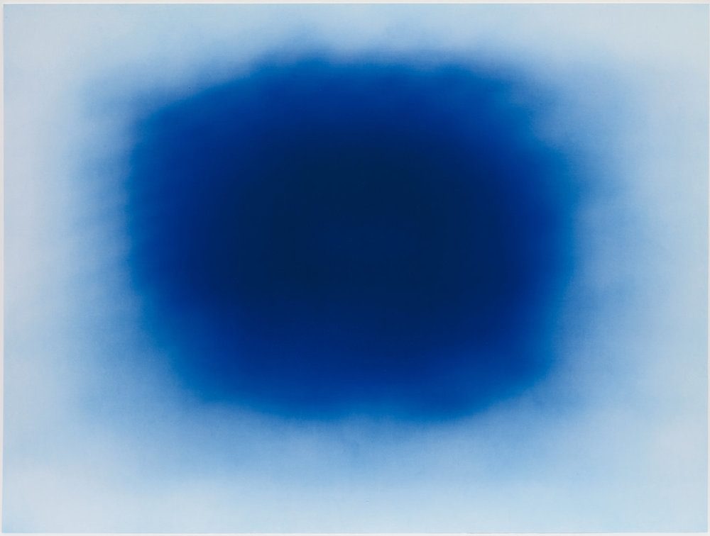 One of a series of ten prints titled 'Breathing Blue' by Anish Kapoor installed at Snowsfields Adolescent Unit. The series, printed on a large scale directly onto dibond, has been installed in a number of different spaces on the unit, in sight of service users, staff and visitors.