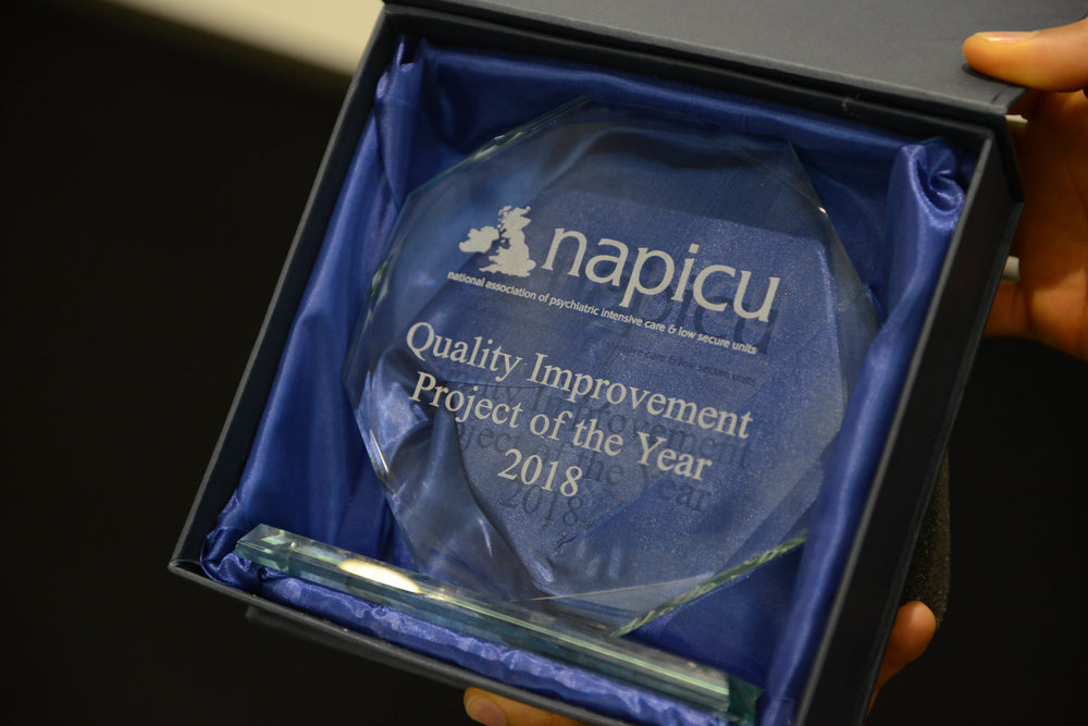 "- ""It has positively transformed the physical environment on ES1 to be much more therapeutic for the patients. This award acknowledges the hard work and dedication of ES1 and Hospital Rooms teams in ensuring successful completion of the project despite the challenges faced due to the acuity of the ward.""— Onyeka Nwankwo, ward manager on ES1"