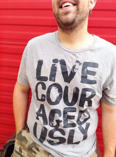 living courageously is LIFE-CHANGING!  wear it today! men's sizes available