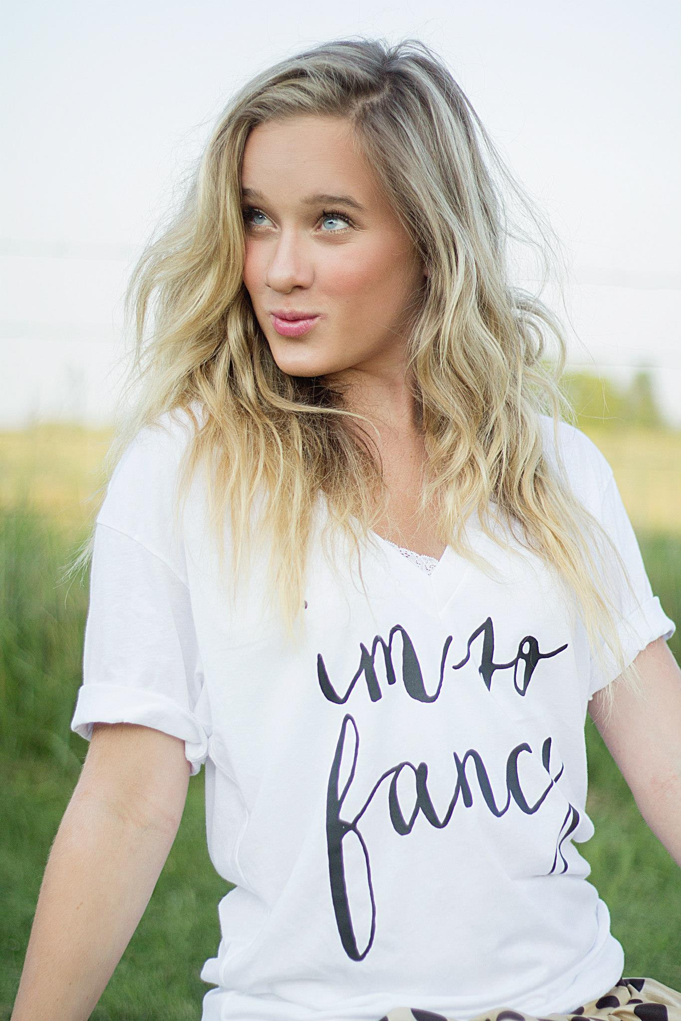 "house of belonging's "" i'm so fancy "" v-neck t-shirt"
