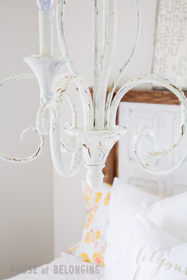 diy miss mustard seed chippy chandelier in linen