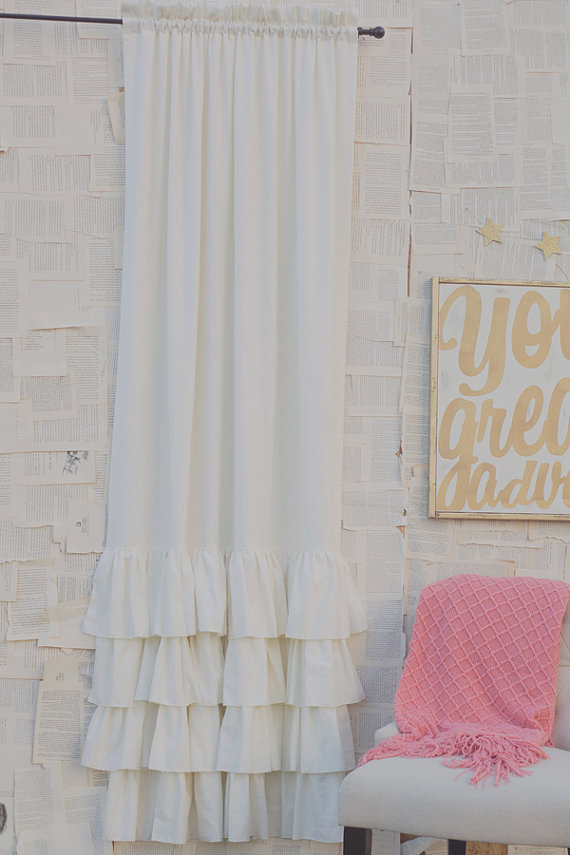 custom curtains for a sweet nursery paired with You are Our Greatest Adventure sign in GOLD..from House of Belonging Etsy shop