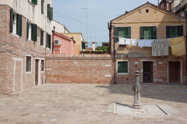 The Campiello - The garden wall is straight ahead and the front door is on the left