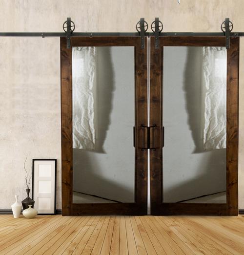 Beautiful Mirrored Barn Door