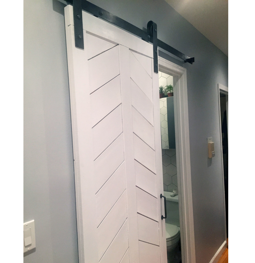 Modern Chevron Barn Door