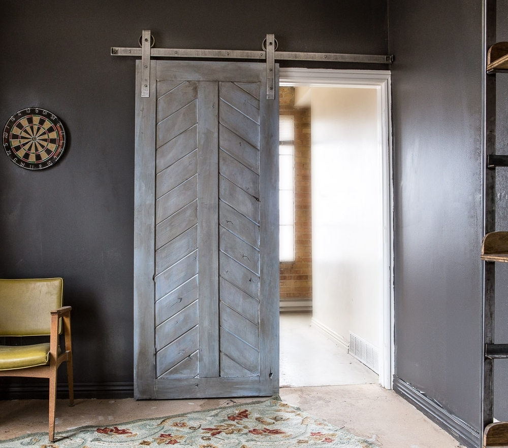Modern Chevron Barn Door & Modern Chevron Barn Door u2014 Laelee Designs