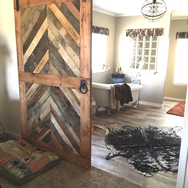 Reclaimed Wood Chevron Barn Door