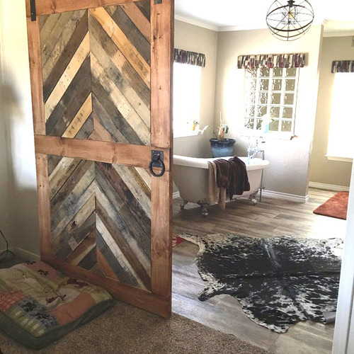 Reclaimed Wood Chevron Barn Door Laelee Designs Simple Barn Door Patterns