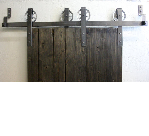 vintage bypass sliding barn door hardware kit more colors available