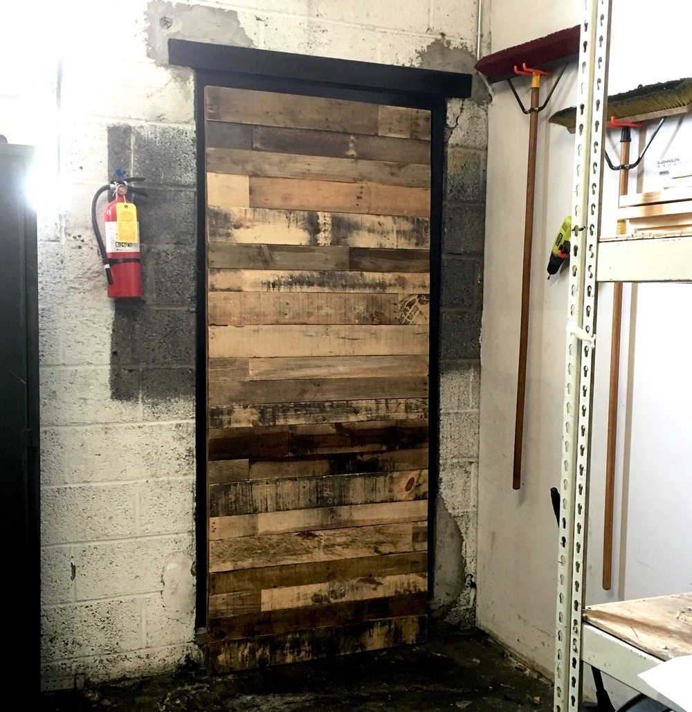 Reclaimed Stacked Barn Door