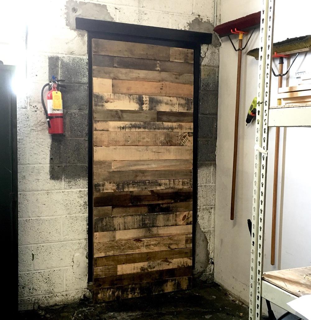 Reclaimed Stacked Barn Door