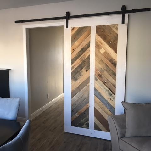 Reclaimed Wood Vertical Chevron Barn Door - Reclaimed Wood Vertical Chevron Barn Door €� Laelee Designs