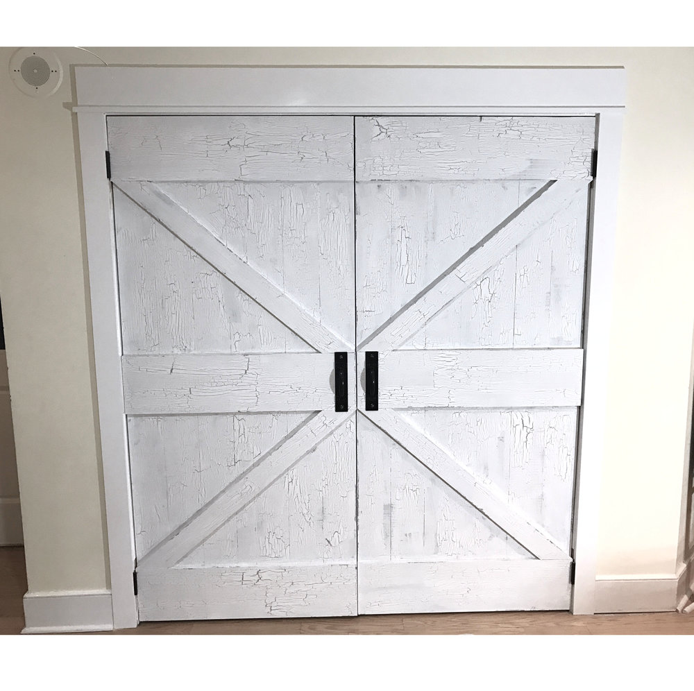 Antique British Brace Barn Door