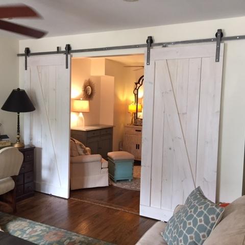 Double Door Classic Barn Door Hardware Kit More Colors Available