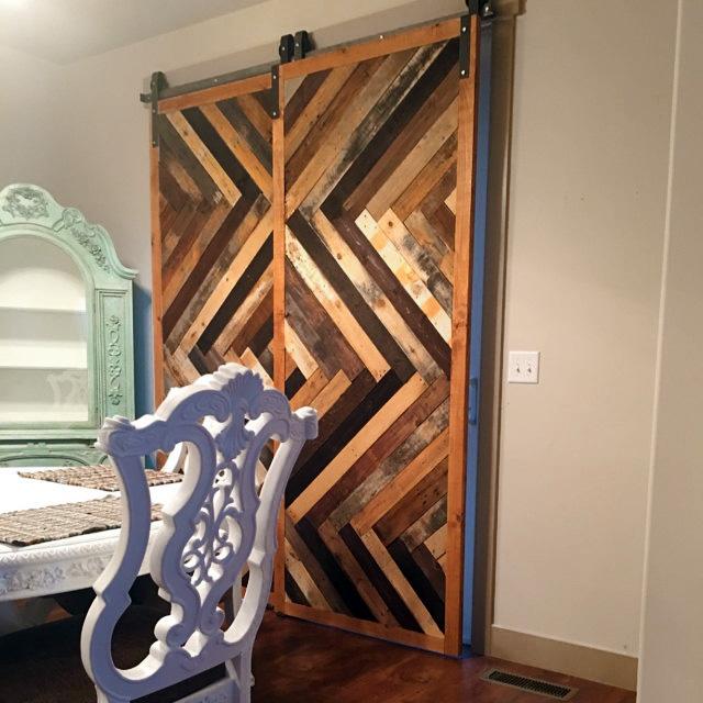 Reclaimed Herringbone Barn Door Laelee Designs