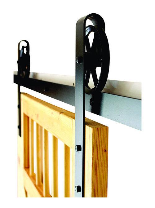 Vintage sliding barn door hardware kit (more colors available) - Vintage Sliding Barn Door Hardware Kit (more Colors Available