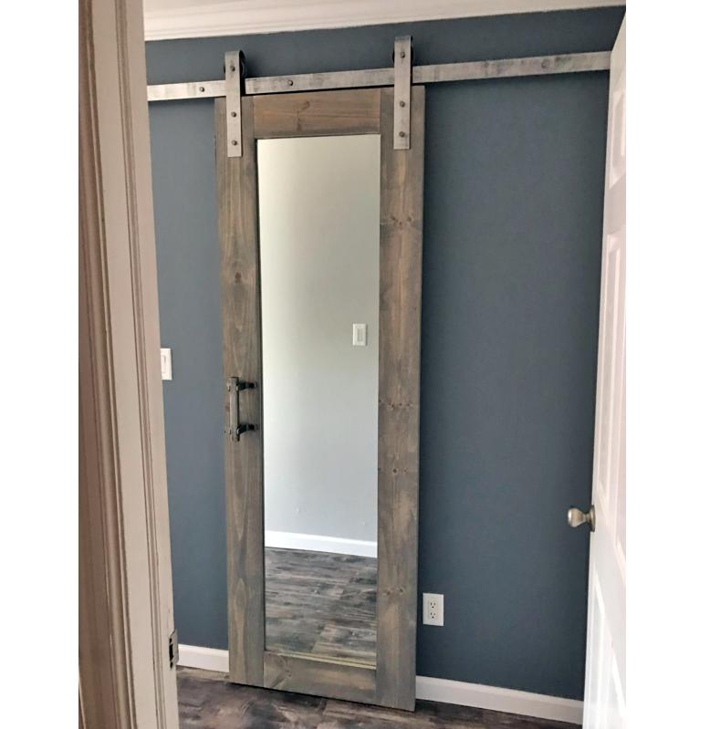Mirrored Barn Door