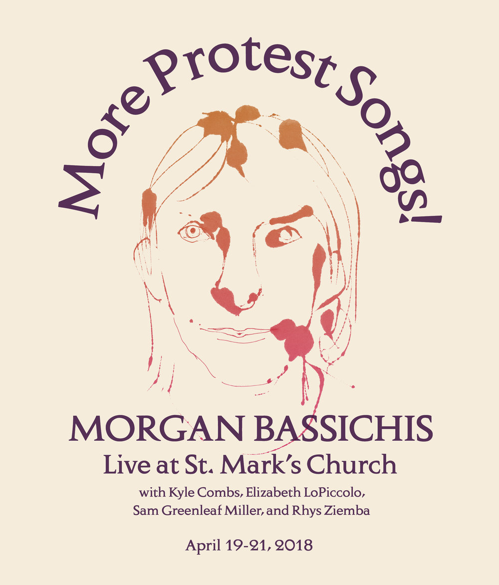 We are so, so psyched to be playing with the fantastic Morgan Bassichis at St. Mark's Church again this week.