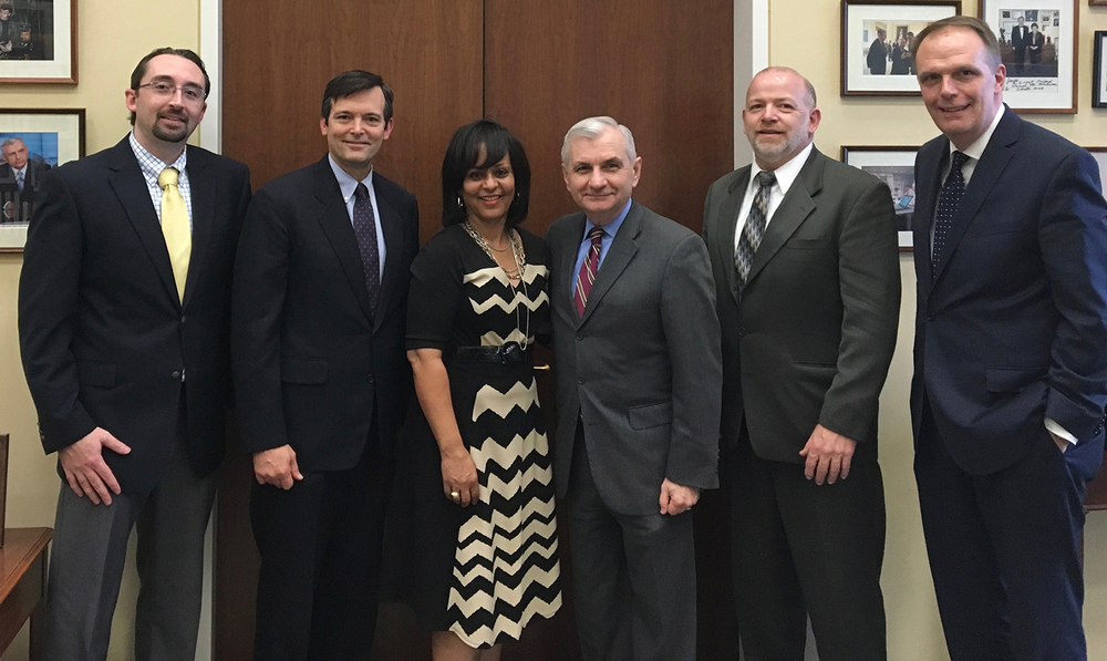 Schrofftech team with RI Senator Jack Reed