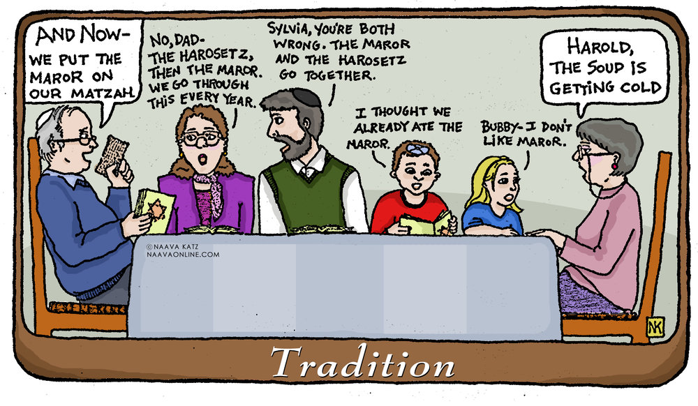 Naava Katz - Passover Cartoon - Tradition.jpg