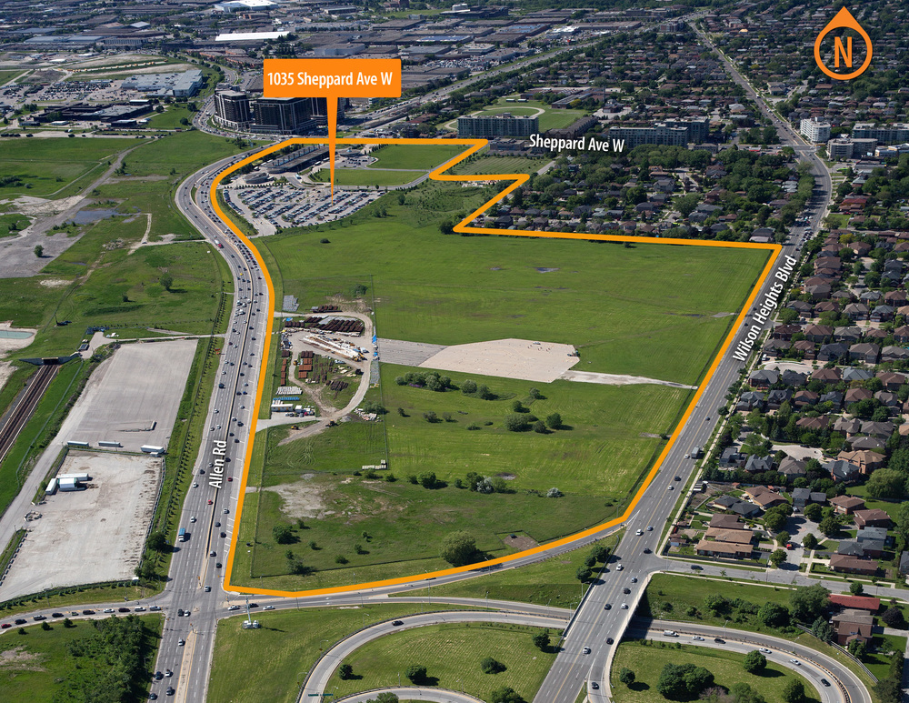 Build Toronto lands within the Allen District
