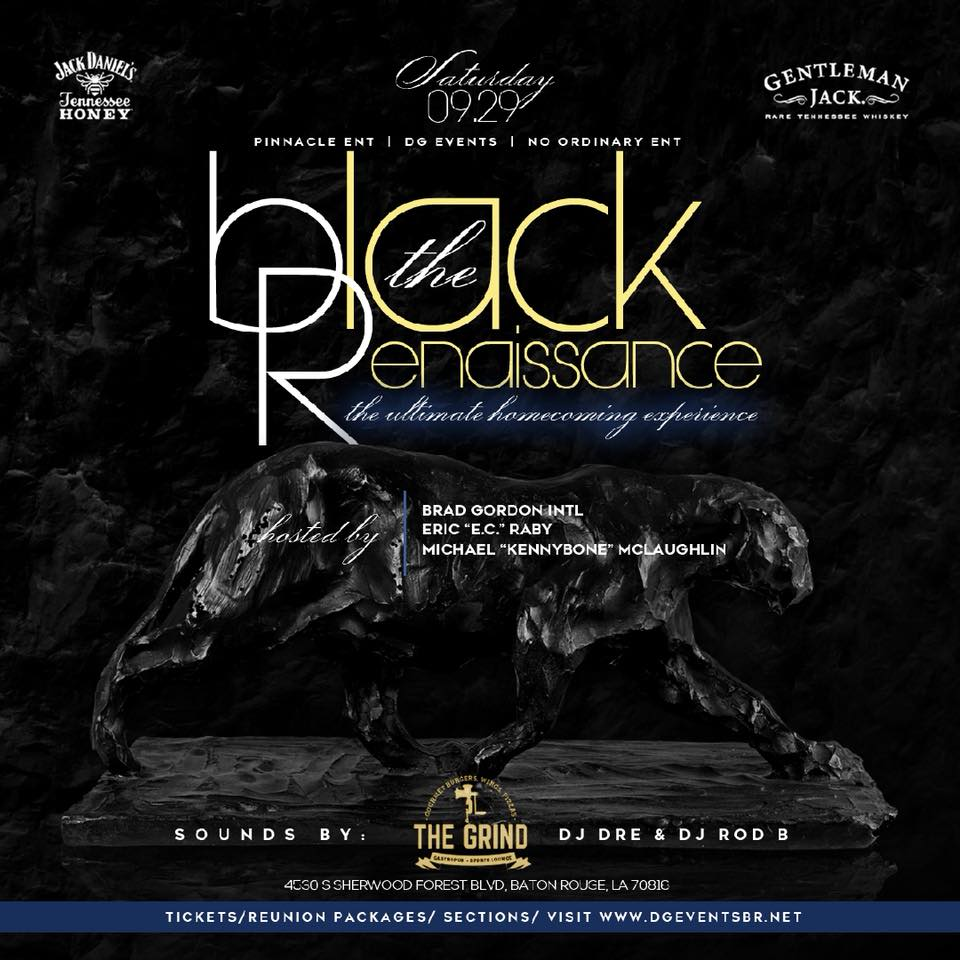 """#BlackExcellence 🔷🔶For Homecoming, there will be parties, there will be events, and then there is THIS! • On Saturday, September 29th, we invite you to join us @thegrindbr as we present: """"The Black Renaissance: The Ultimate Homecoming Experience."""" • This evening was designed with you, the mature audience in mind and we promise to deliver an intimate experience that will be second to none • This event is hosted by: Eric """"E.C."""" Raby, Brad Gordon @bradgordonintl, and Michael """"KennyBone"""" McLaughlin @iamkennybone   #BlackRenaissance is powered by: @DG_Events @NoOrdinaryEnt @Pinnacle.IMP  For tickets 