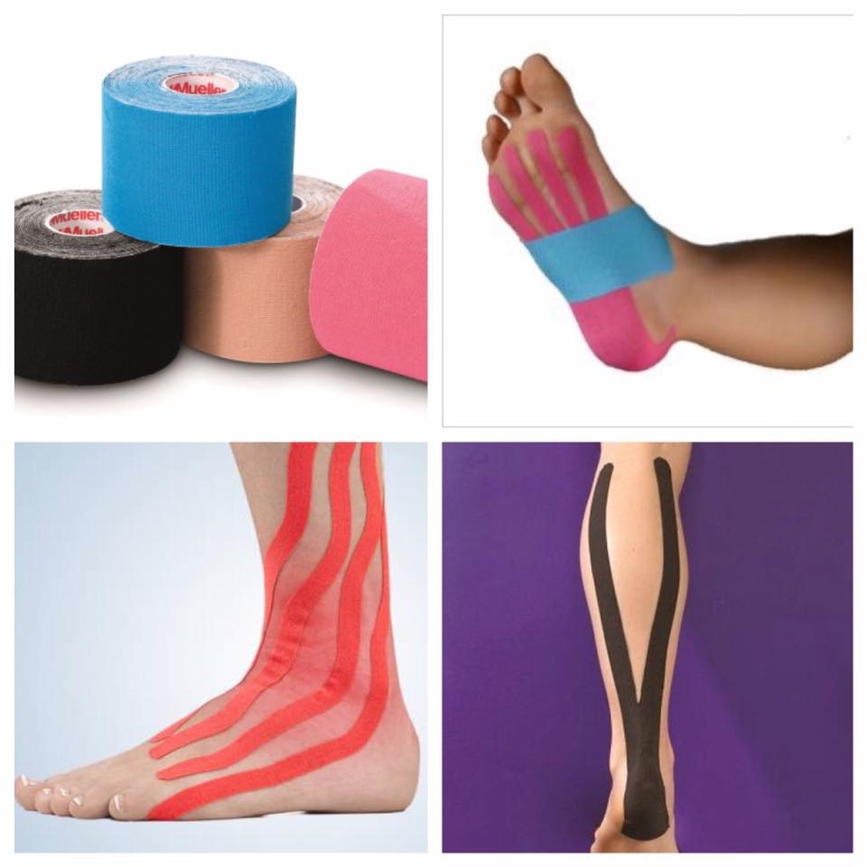 Kinesiology taping, sports injuries, podiatrist 85028, podiatrist 85032, foot pain, ankle sprain, heel pain.