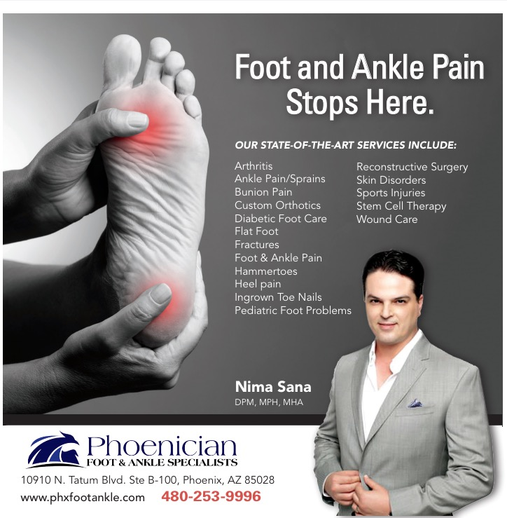 Phoenix Podiatrist, Arizona, Scottsdale, Paradise Valley, Bunion, Hammertoes, heel pain, Ankle pain 85032, 85022, 85028, 85050, 85254, 85253, 85050
