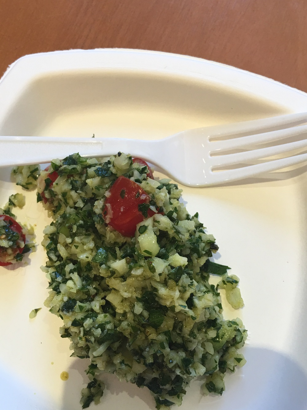 The Finished Product:  Cauliflower Tabbouleh Salad