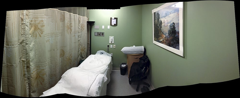 Acupuncture room where I received treatment to ease the side effects of other treatments.