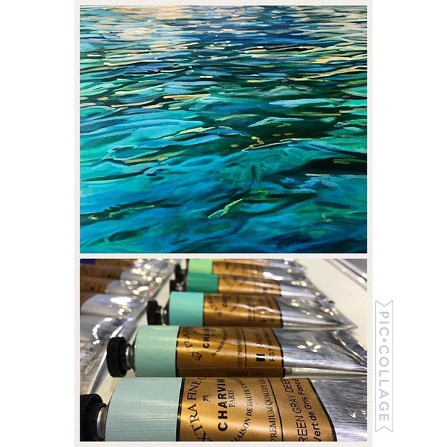 As a professional artist I use Charvin acrylics available through @jerrysartarama #charvin #charvinacrylics #jerrysartarama #colorsofnature #iloveaqua #laketahoe #keeptahoeblue💙 #emanategallery #westwardgallery #pacificcrestgallery #artobsessions