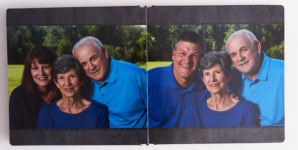 Inside Page Spread in the album can lay flat