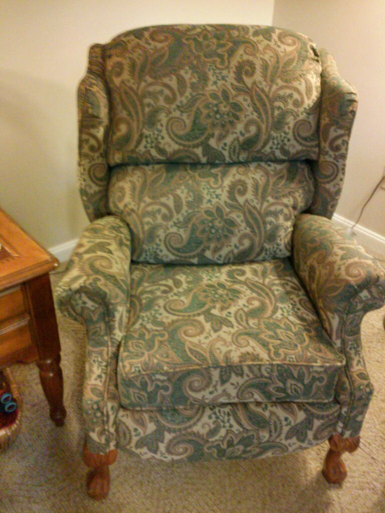Upholstered chair Springfield, MO by Eric's Upholstery