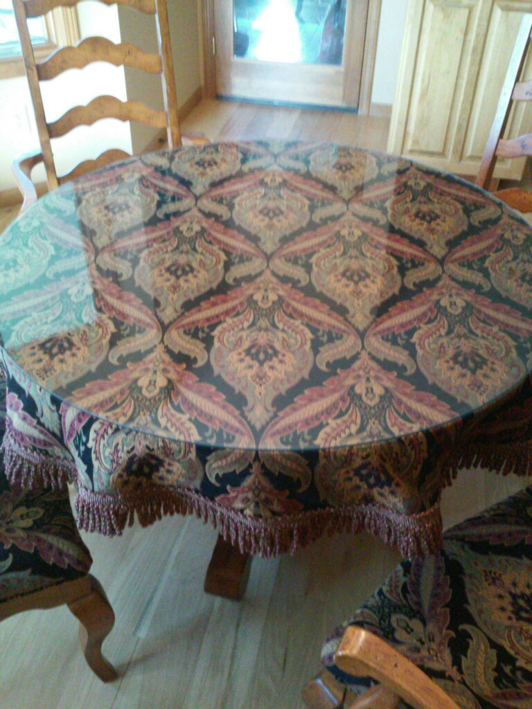 Table cloth by Eric's Upholstery