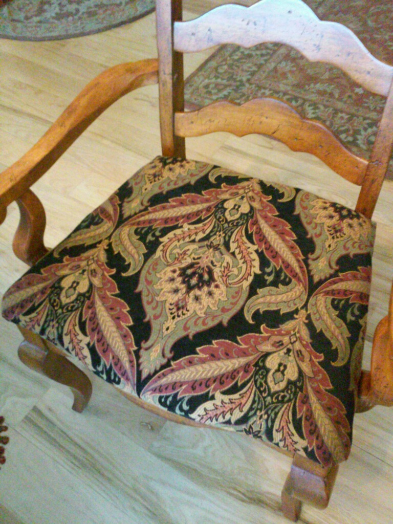 Matching Chair Upholstery by Eric's Upholstery