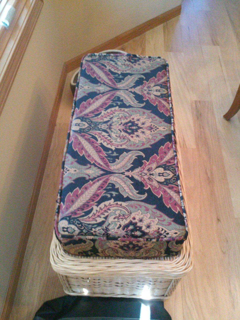 Matching Footstool by Eric's Upholstery