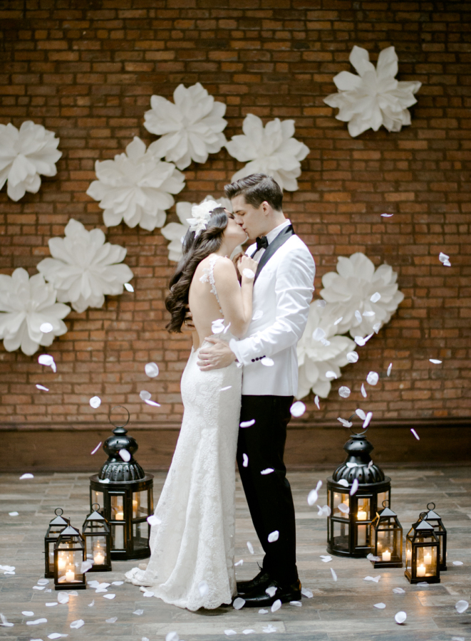 STYLE ME PRETTY: Fresh & Romantic Industrial Wedding Inspiration