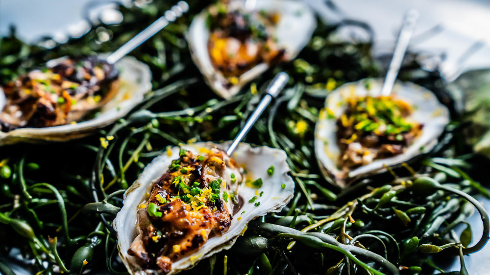 Roasted Beausoleil oysters