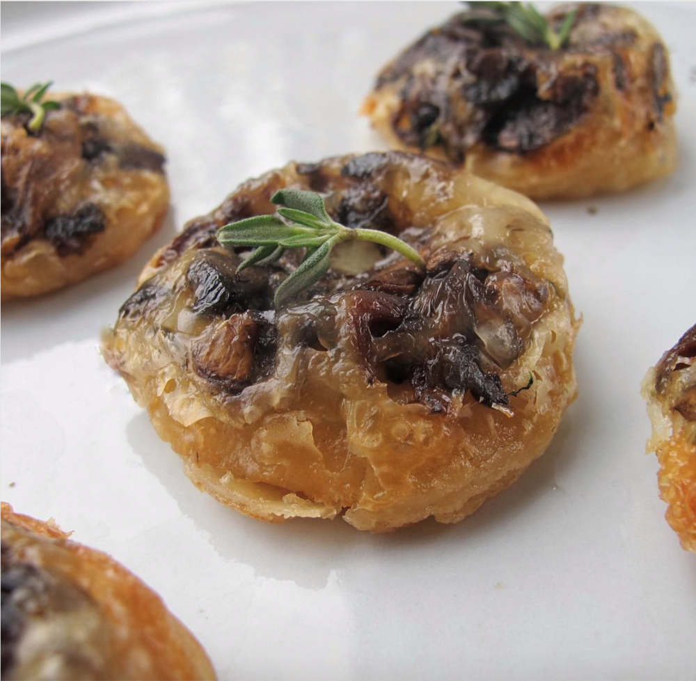 - Wild mushroom tarte tatins