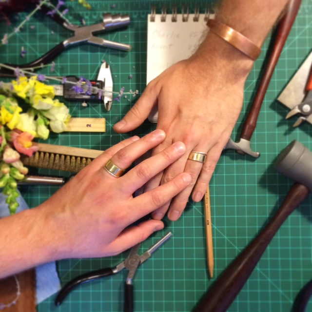 Make Your Own Wedding Bands - Interested in making your own wedding bands? It's the perfect way to add sentiment to the jewelry you'll wear for the rest of your lives. Join me at my studio in Northeast Minneapolis for a few hours and leave with beautiful, handmade wedding bands. Just bring yourselves and your excitement to learn something new while making a truly one of a kind piece for your partner!Pricing starts at $350.