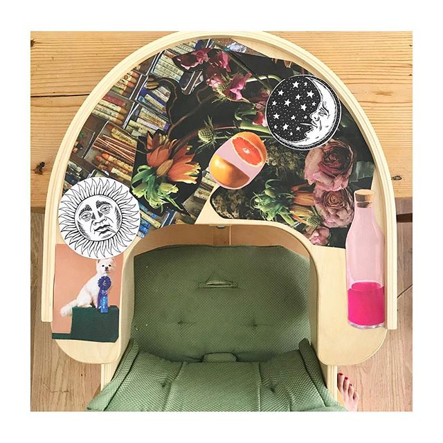 Instead of cutting up my coveted collection of National Geographic's, I decided to decorate my son's high chair with the first issue of MedMen's Ember magazine. Let's see who notices...