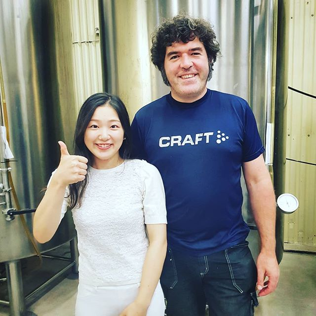 Today we had the fantastic pleasure of having Moe from the University of Tokyo visiting. We spoke about sustainability in craft brewing and our efforts and approach to this very important subject.