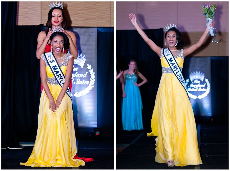Ardelle Dickerson Miss Teen Maryland United States 2015 crowning moment