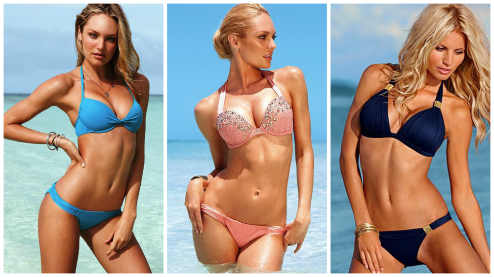 Photo cred: Left-Victoria's Secret, Far right-Venus Swimwear