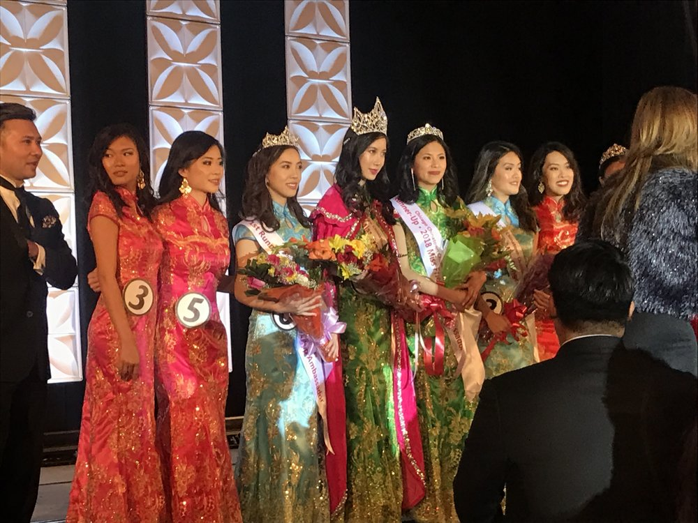 Qin and the Miss Friendship Ambassador 2018 court!