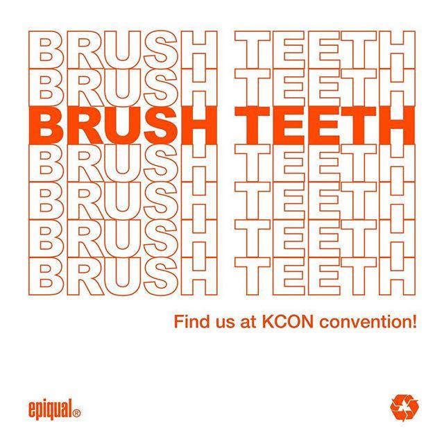 Keep Brushing & KCON 🎶🎵 #케이콘 #2018케이콘 #아이돌 #로스앤젤레스 #케이뷰티 #오랄뷰티 #디자인칫솔 #케이팝