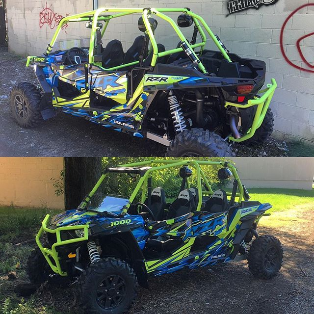 Lets just take a moment to enjoy the visuals of this #RZR we just did at @1330wraps 💯 #utvwraps #rzr1000 #polaris #polarisrzr #flo #graphics #wraps #braap #seekanddestroy #prostar #killerbootsman #moist #paintisdead @utvaus @utvwolfpack