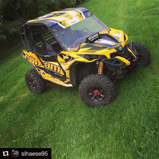 #Repost @slhaese95 with @repostapp ・・・ Still needs a few finishing touches but @kjs_official and @1330wraps got my Maverick dialed in! I love how it turned out! #1330wraps #canam #shredcity #utv #utvunderground #utvwraps #maverick